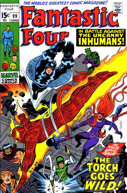 Fantastic Four 99 - The Torch Goes Wild !