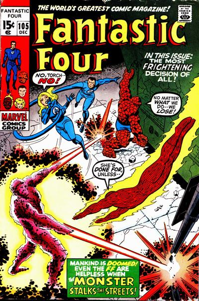Fantastic Four 105 - The Monster in the Streets !