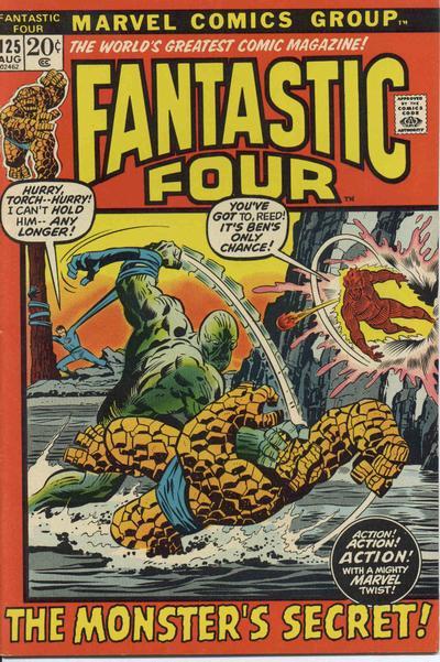 Fantastic Four 125 - The Monster's Secret !