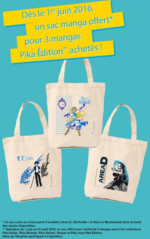 Opération sacs 2016 avec Pika