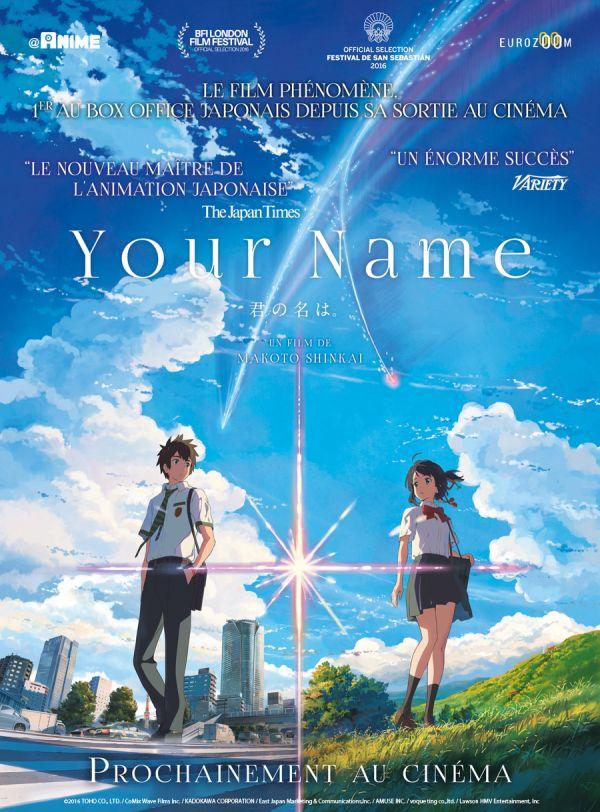 Your name cartonne au Japon