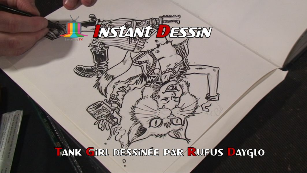 Instant dessin : Rufus Dayglo dessine Tank Girl [PMS 23ème édition]