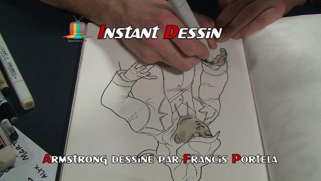 Instant dessin : Francis Portela dessine  Armstrong [PMS 23ème édition]