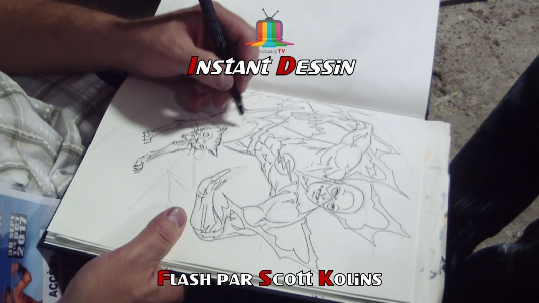 Instant dessin : Scott Kolins dessine Flash