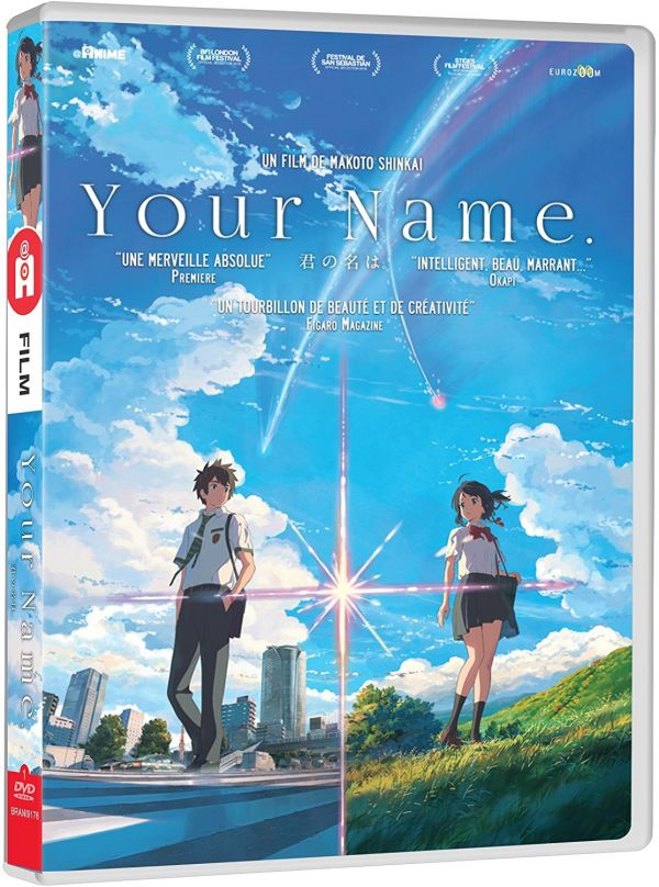 Your name en DVD/Blu-ray chez @anime