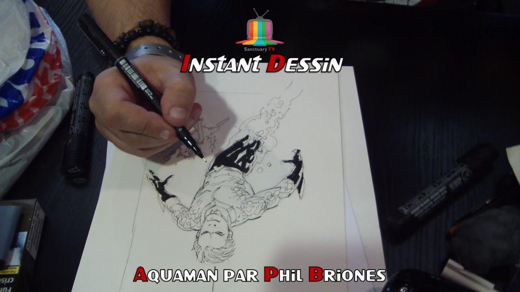 Instant dessin : Phil Briones dessine Aquaman