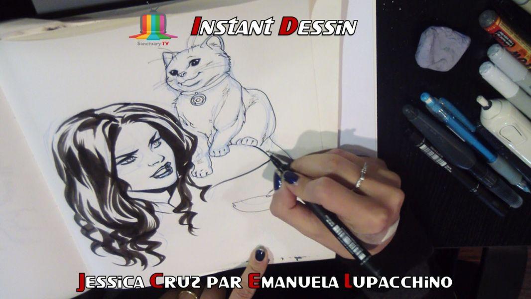 Instant dessin : Emanuela Lupacchino dessine Jessica Cruz