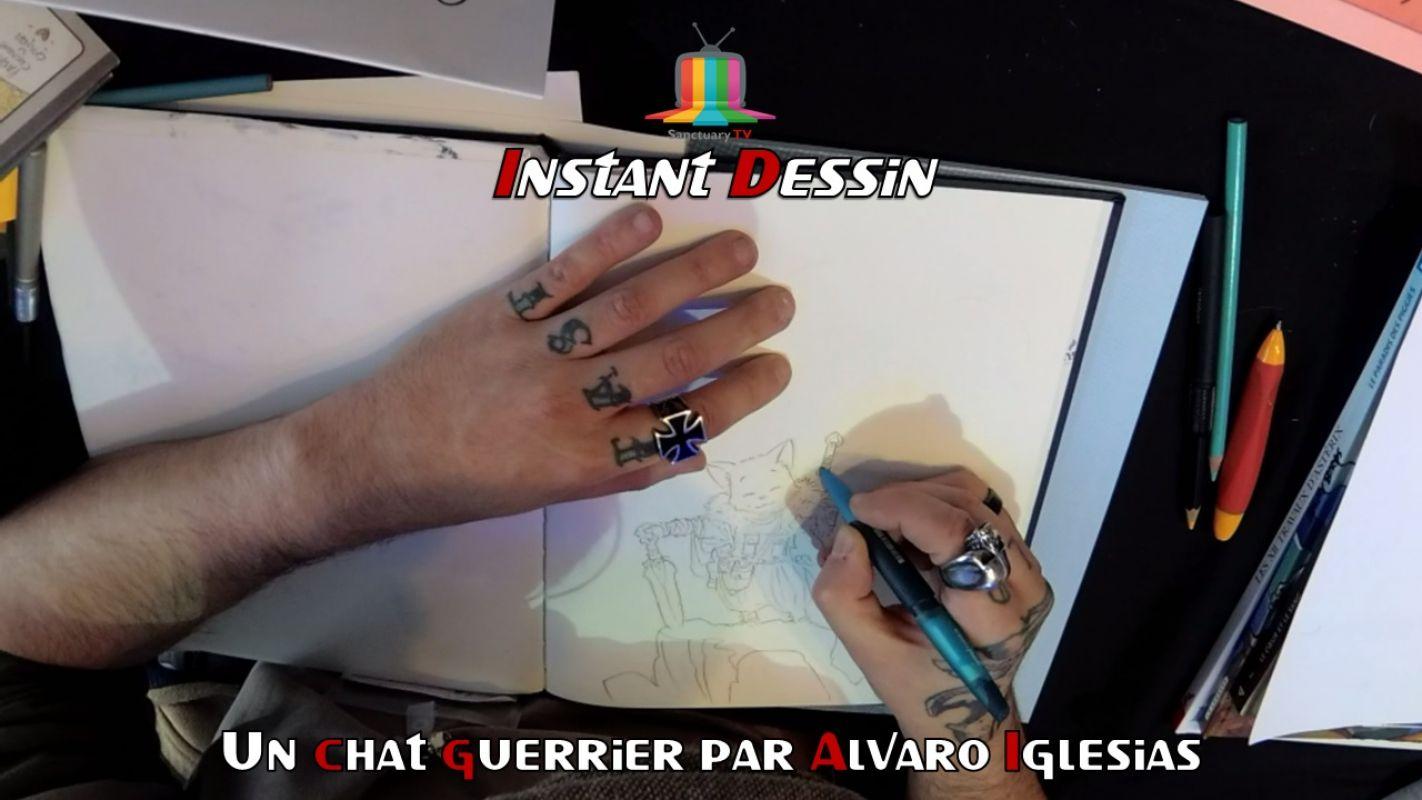 Instant dessin : Alavaro Iglesias dessine un Chat guerrier
