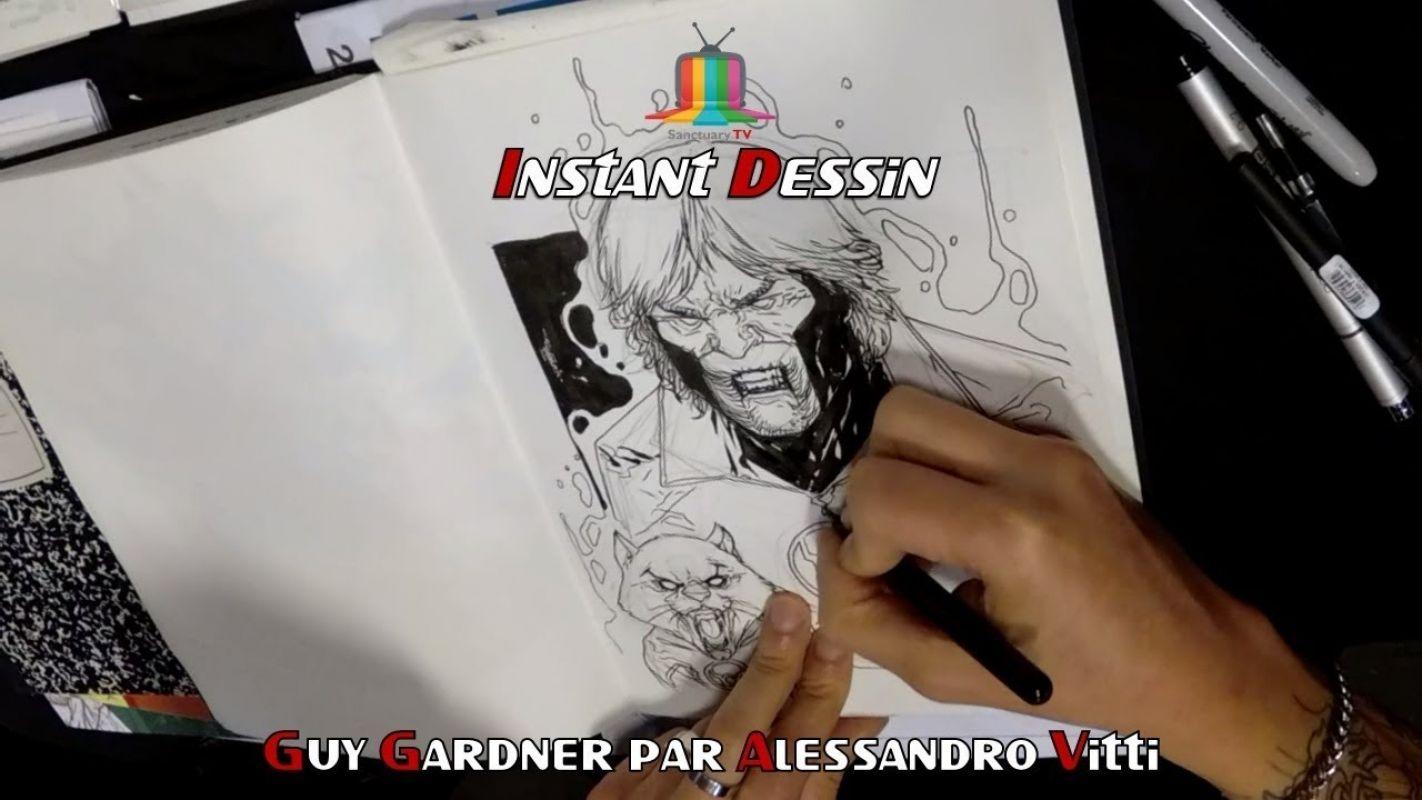 Instant dessin : Alessandro Vitti  dessine Guy Gardner