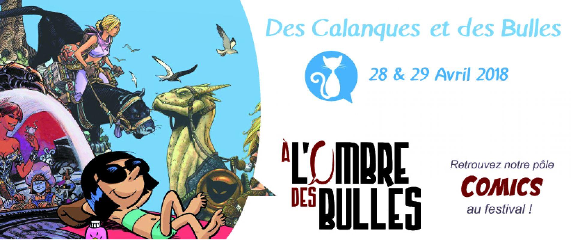 DES CALANQUES ET DES BULLES 2018 : LE POLE COMICS