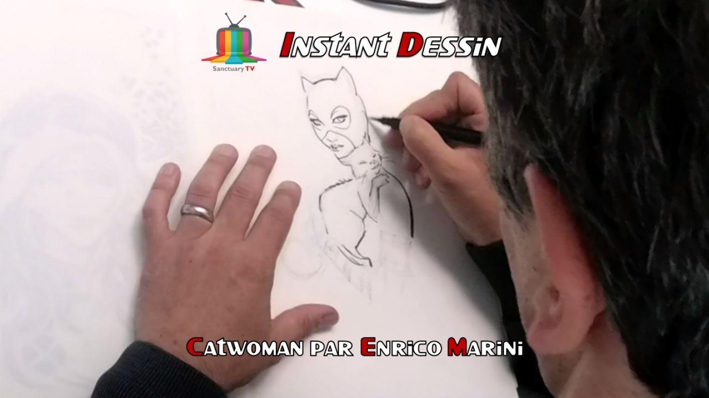 Instant dessin : Enrico Marini dessine Catwoman