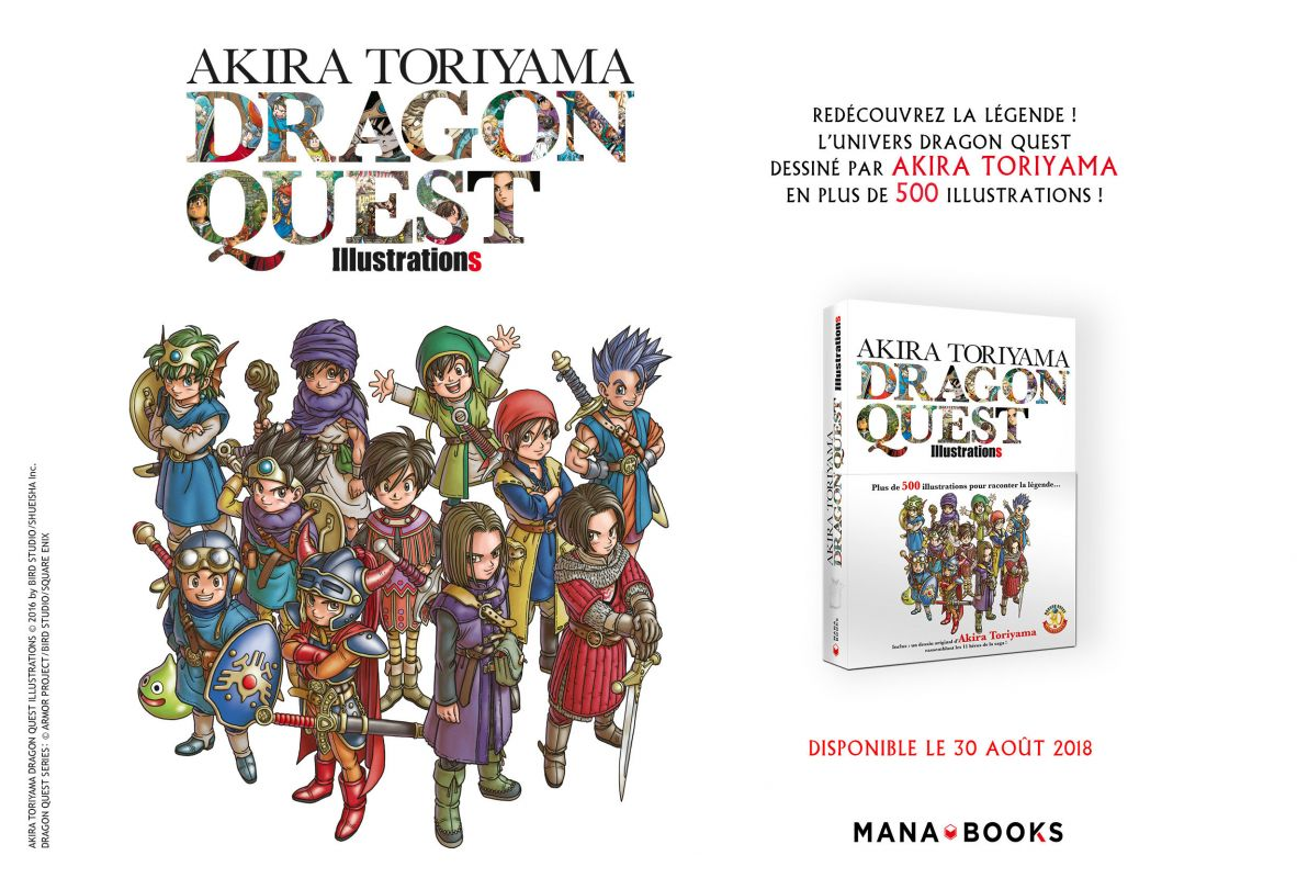 Akira Toriyama Dragon Quest Illustrations chez Mana Books