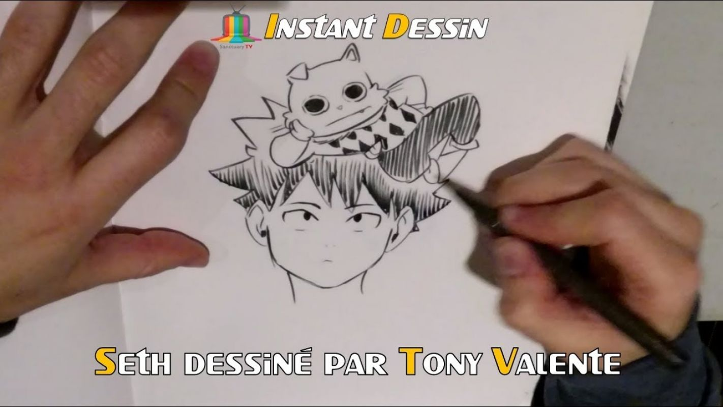 Instant dessin : Tony Valente dessine Seth