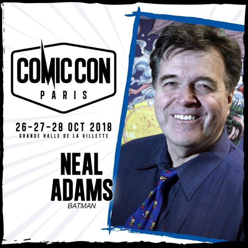 Neal Adams à la Comic Con Paris 2018 !