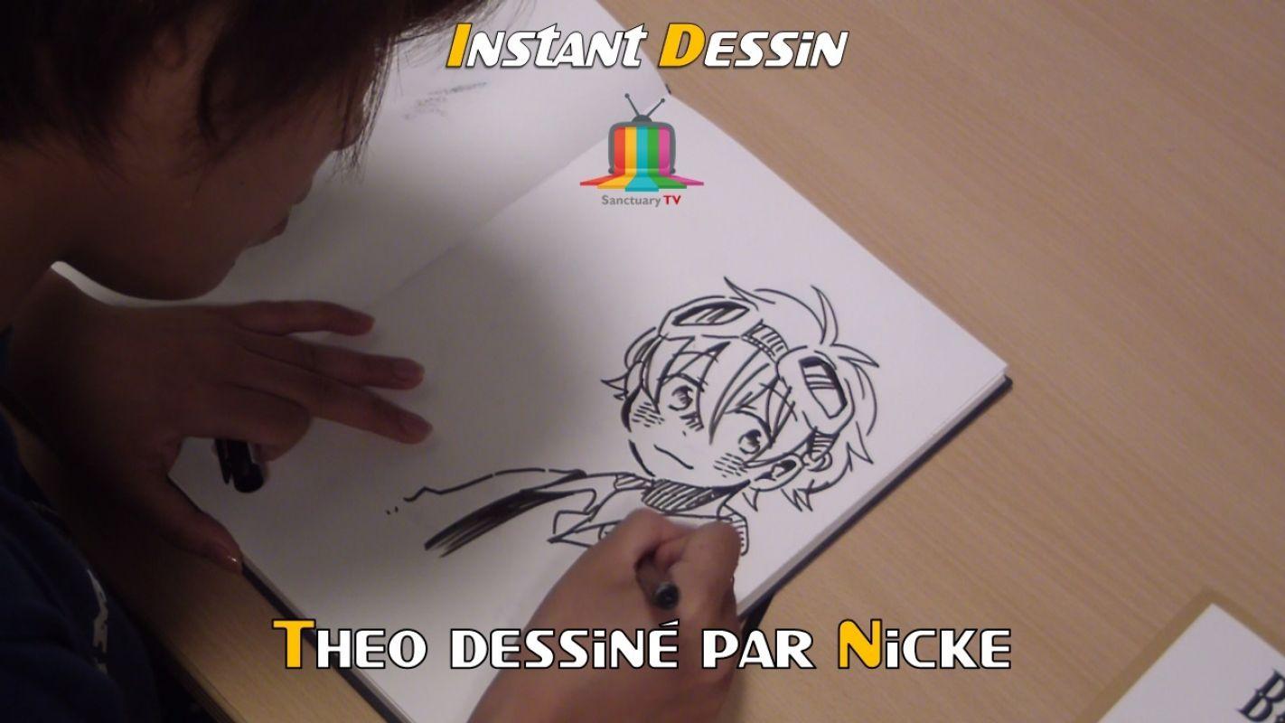 Instant dessin : Nicke dessine Théo