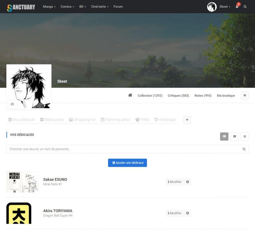 Sanctuary : le nouveau site avance !