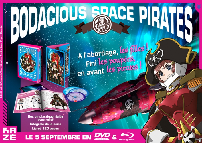 Bodacious Space Pirates en coffret DVD et Blu-ray