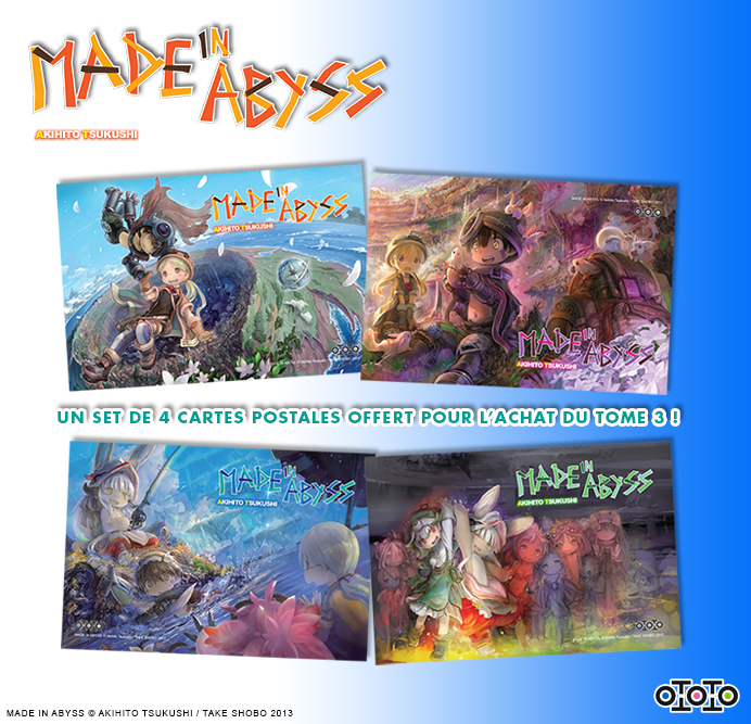 Des cartes postales version Made In Abyss