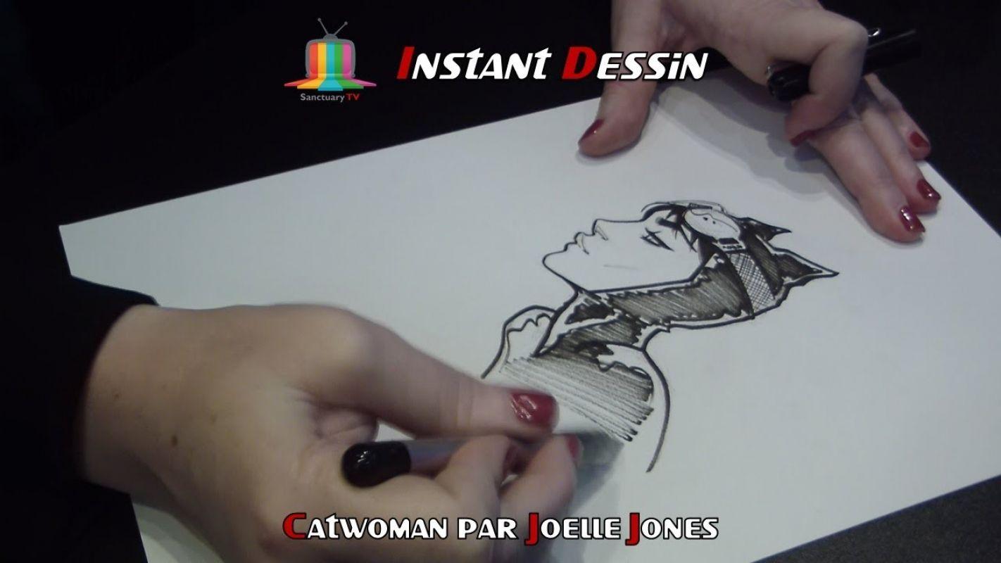 Instant dessin : Joelle Jones dessine Catwoman [Comic Con Paris 2018]