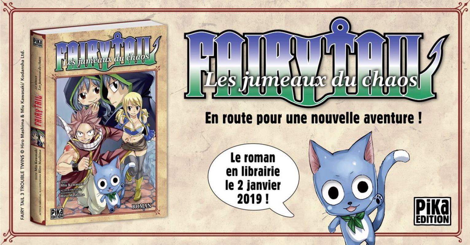 Un nouveau roman Fairy Tail chez Pika