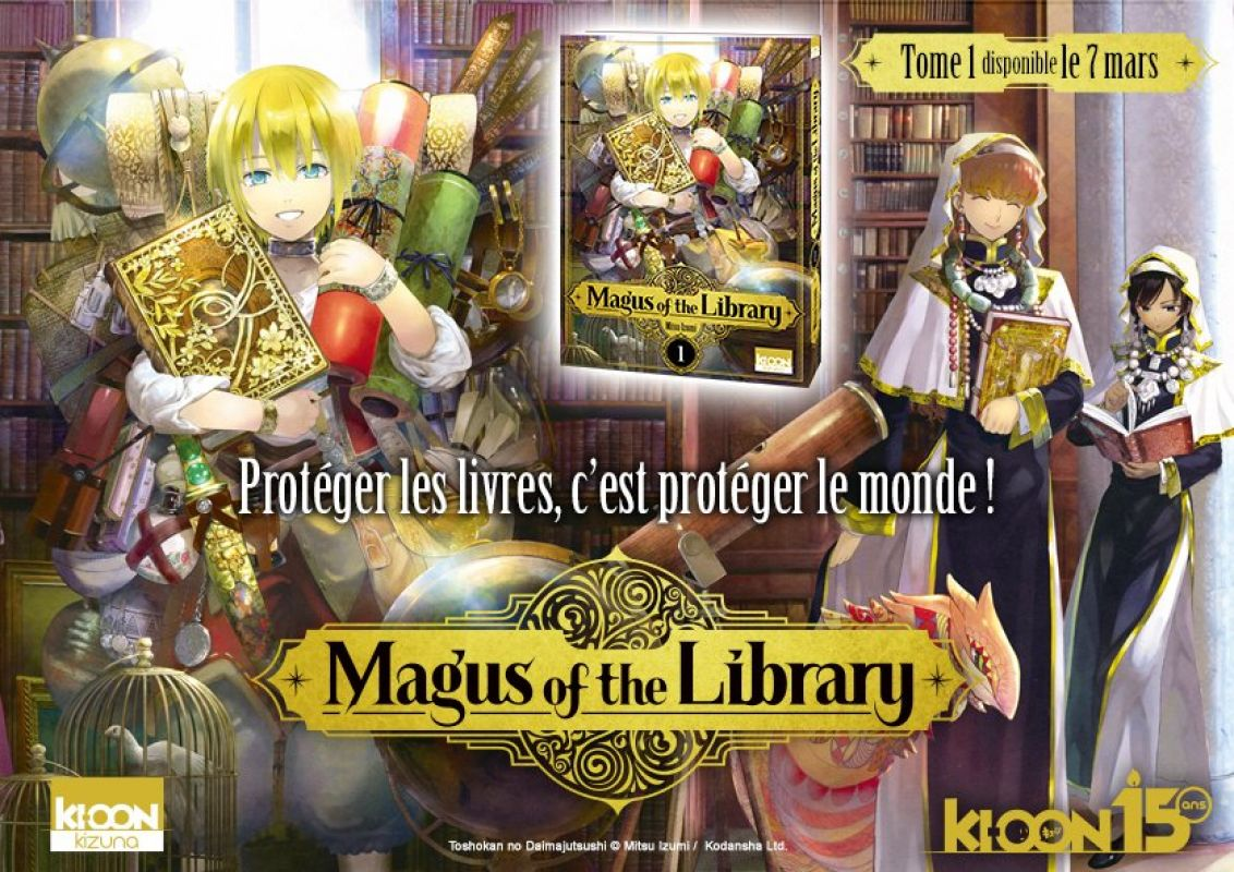 Magus of the Library dévoile ses premières pages !
