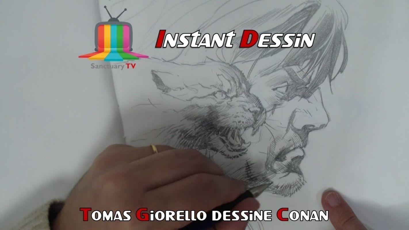 Instant dessin : Tomas Giorello dessine Conan & un chat