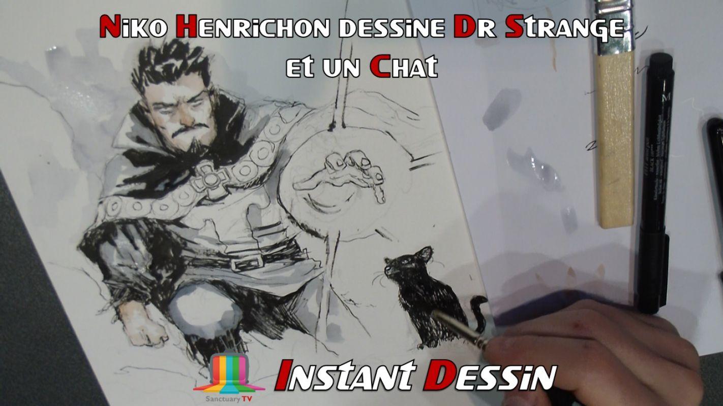 Instant dessin : Niko Henrichon dessine Doctor Strange & un chat