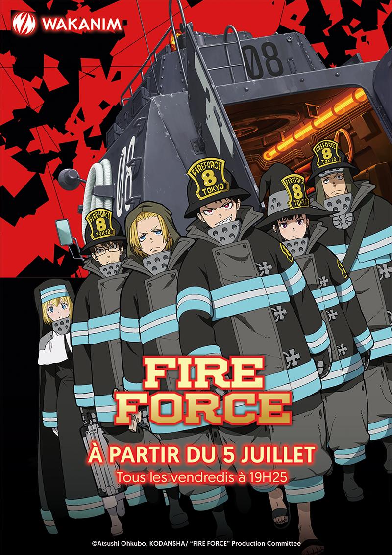 Fire Force sur Wakanim et ADN