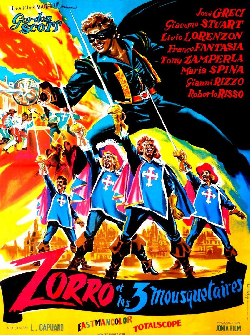 Retour vers le passé : Zorro et les Trois Mousquetaires (1963)