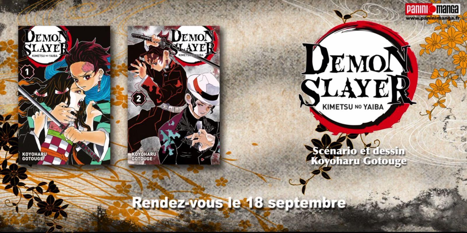 Teaser pour la réédition de Demon Slayer