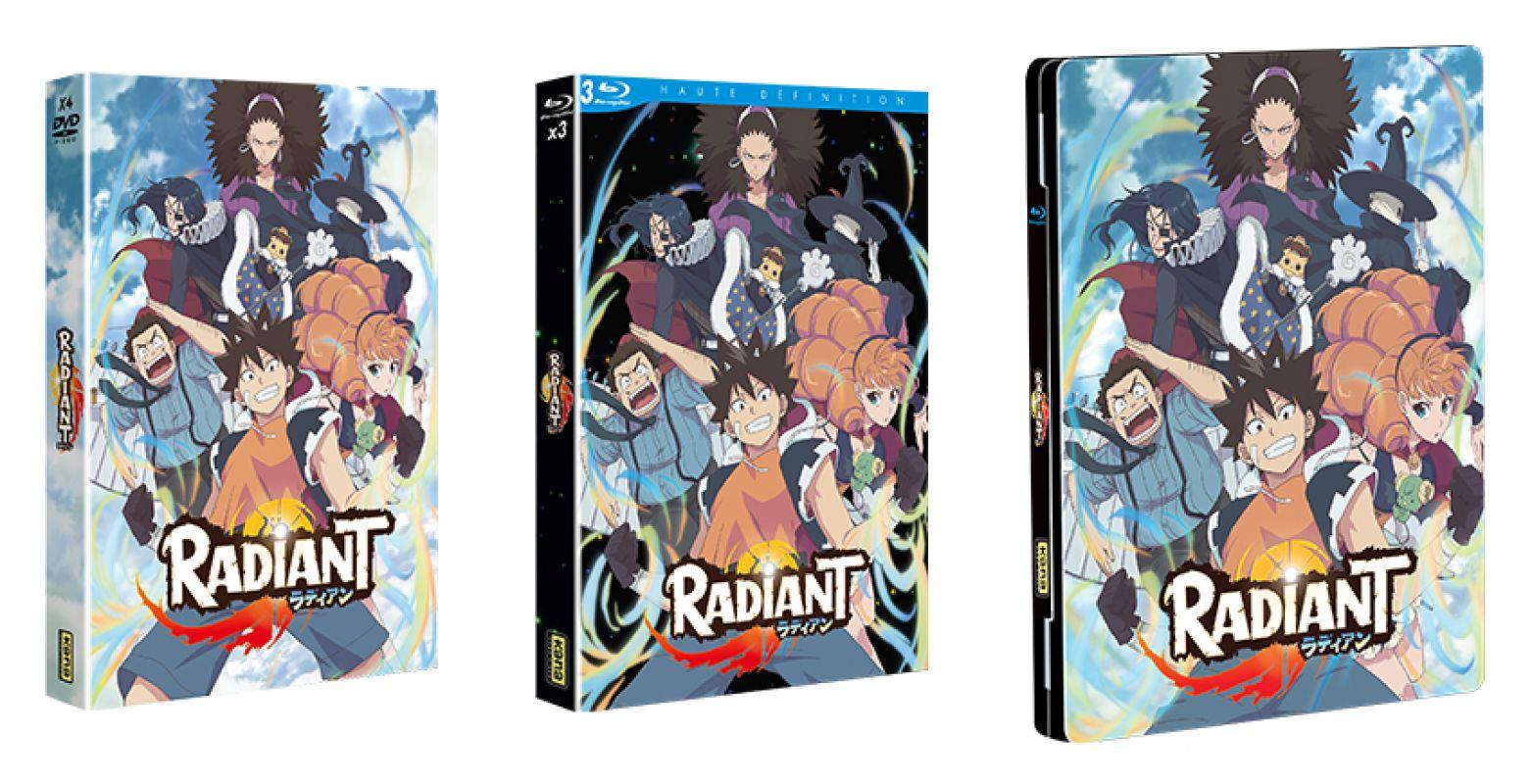 L'animé Radiant en blu-ray et DVD