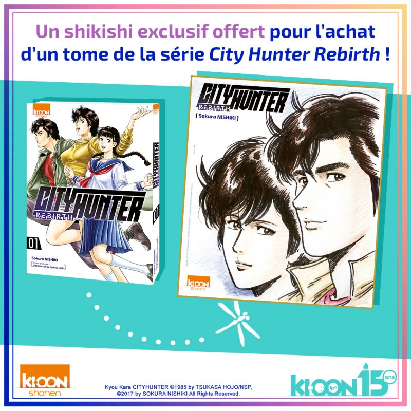 Un shikishi collector pour le prochain tome de City Hunter Rebirth