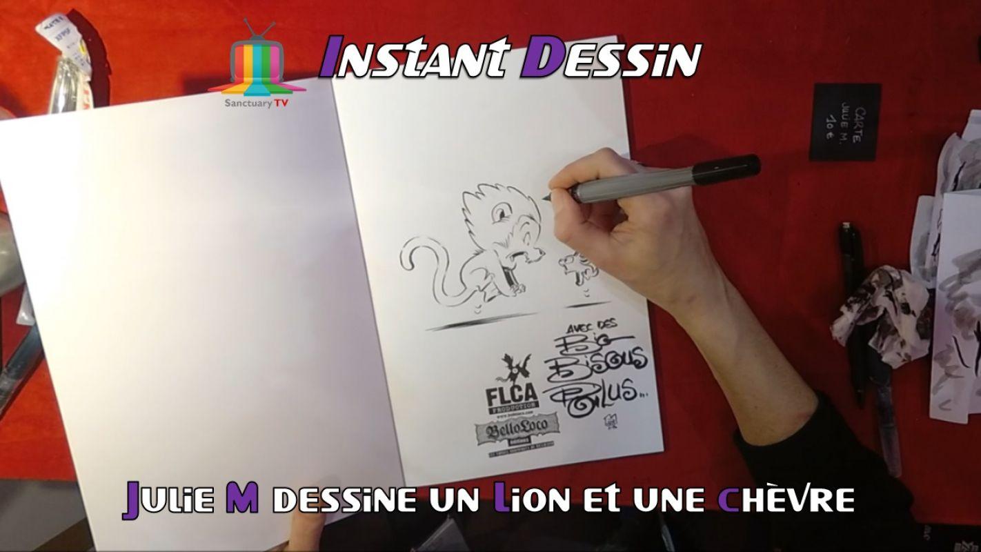 Instant dessin : Julie M dessine un lion & une chèvre