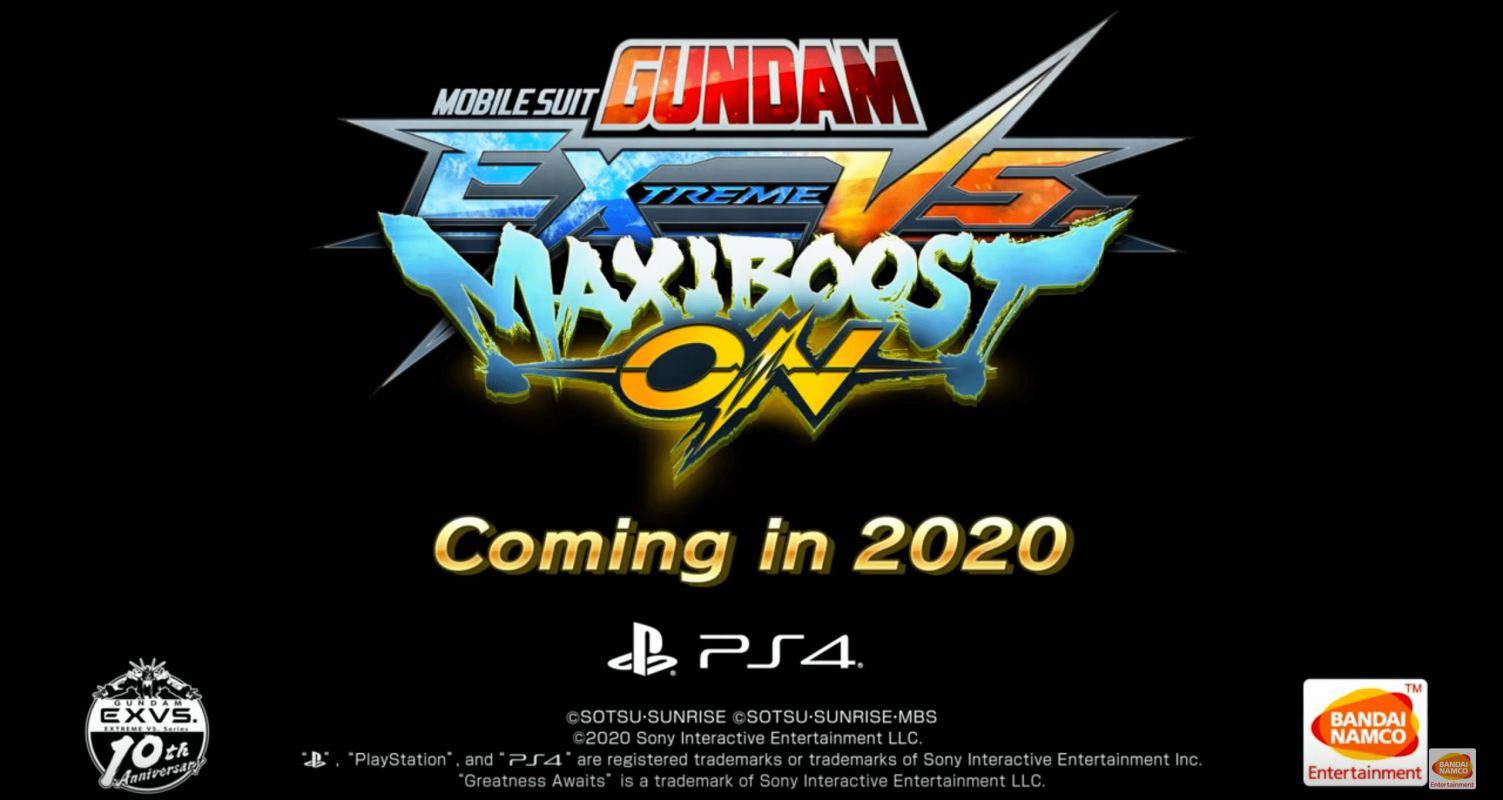 Un gros trailer pour le jeu MOBILE SUIT GUNDAM EXTREME VS. MAXIBOOST ON.