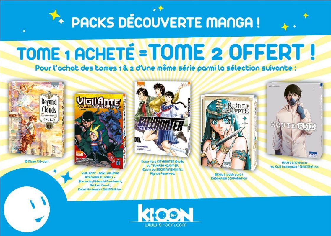 Ki-oon lance une nouvelle opération deux mangas pour un !