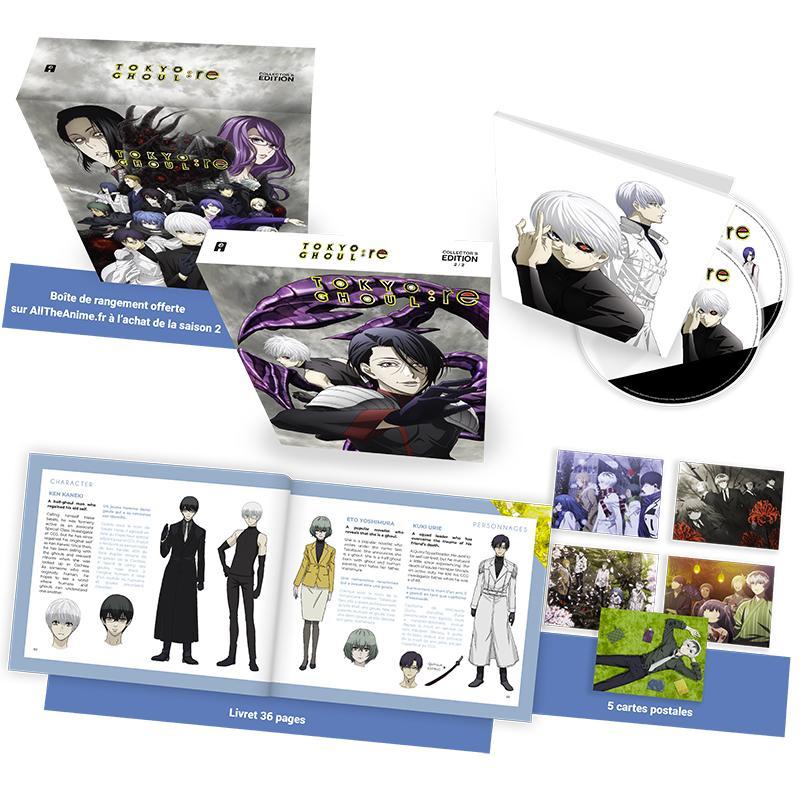 Le coffret blu-ray et DVD de Tokyo Ghoul:re saison 2 daté en France