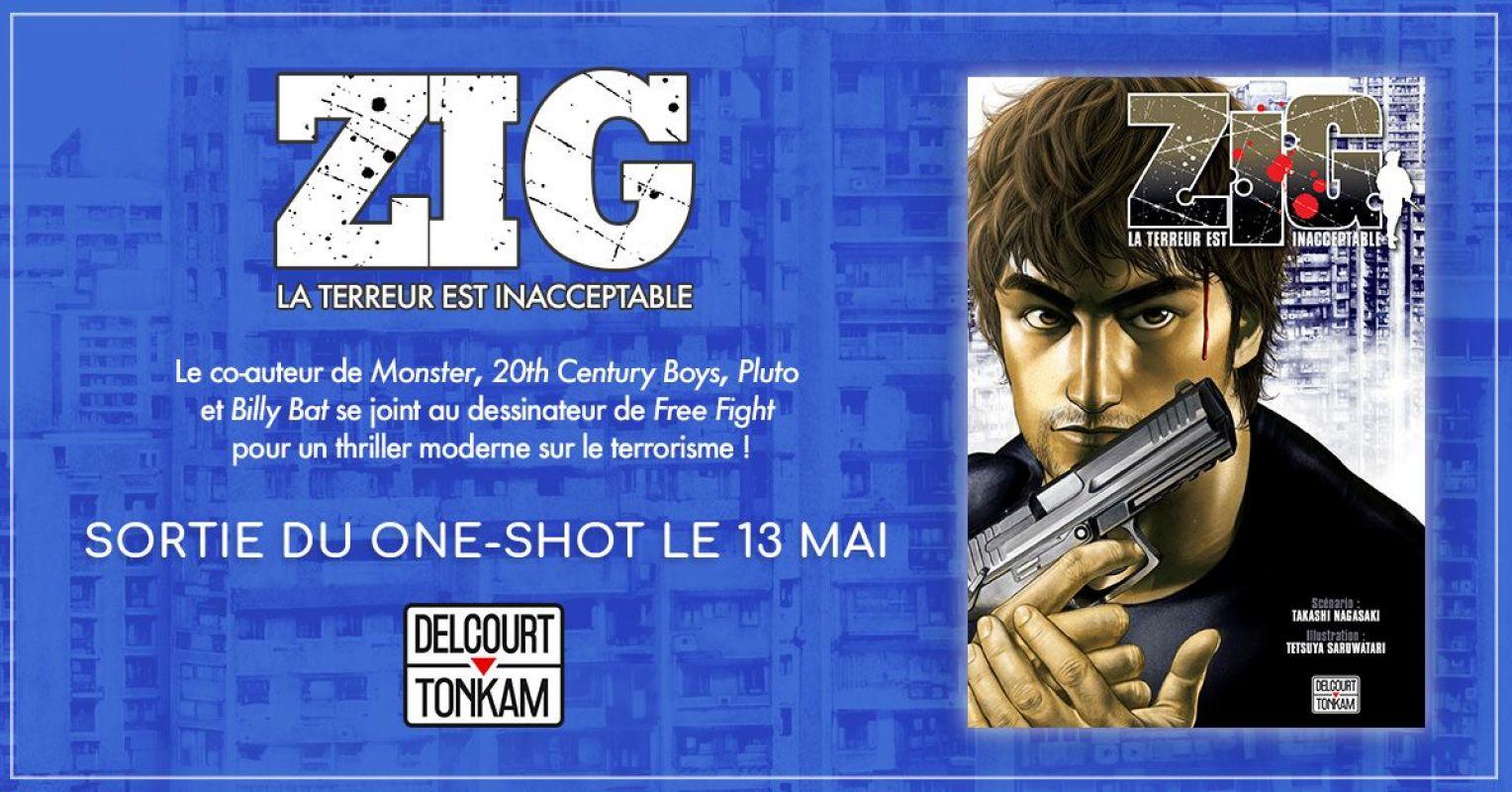 Zig - La Terreur est Inacceptable chez Delcourt/Tonkam