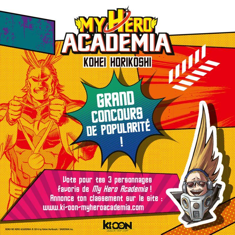 Votez pour vos personnages préférés de My Hero Academia !