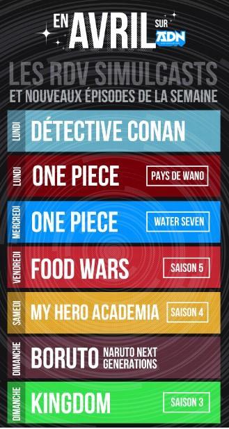 Kingdom saison 3 et Food Wars saison 5 en simulcast sur ADN !