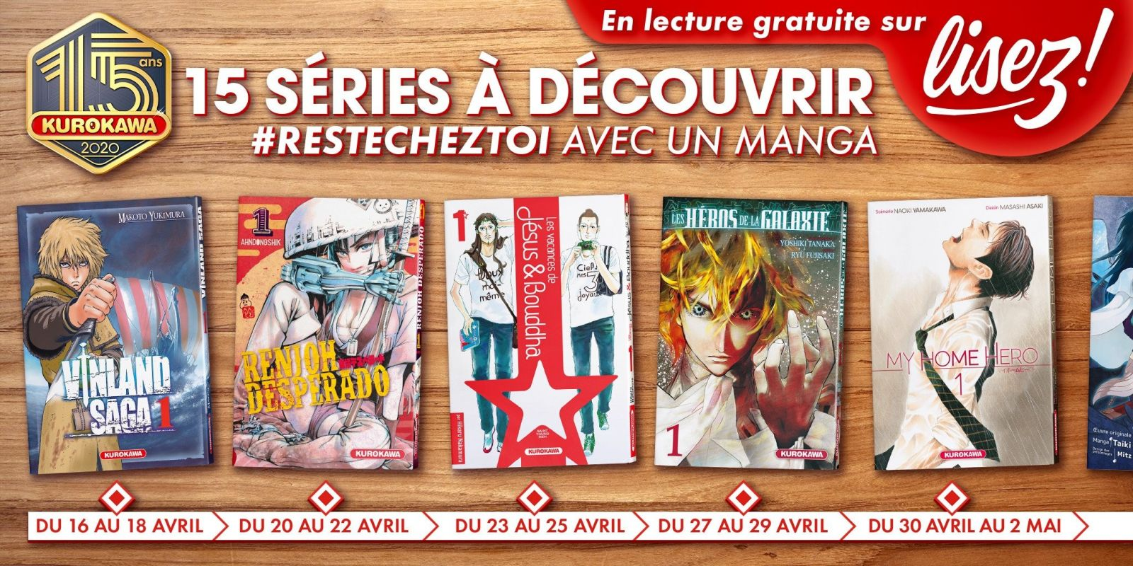 Kurokawa lance son opération #ResteChezToi avec un manga !
