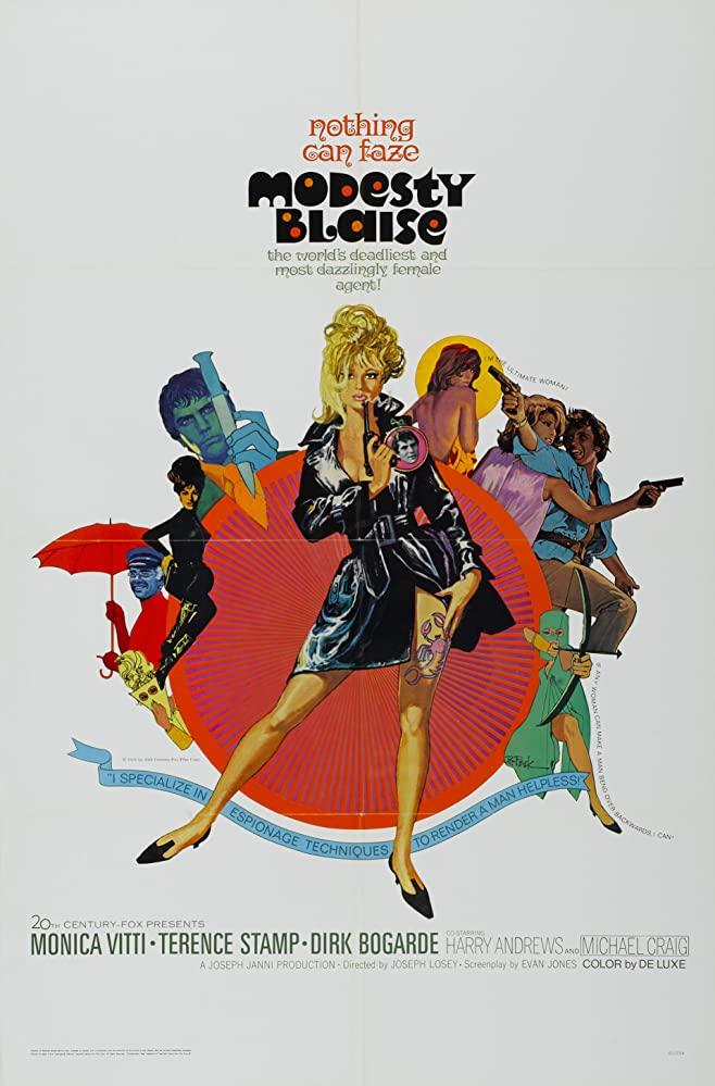 Retour vers le passé :  Modesty Blaise (1966)