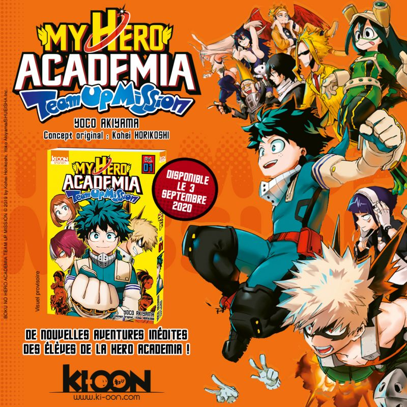 Découvrez la bande-annonce du manga My Hero Academia Team Up Mission !