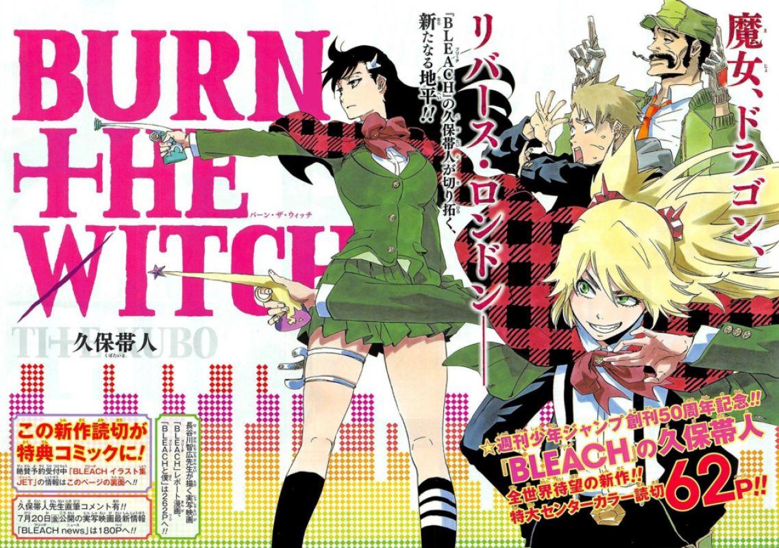 Une date de lancement pour le manga Burn The Witch !