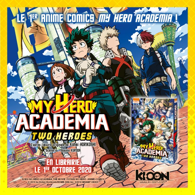 La version anime comics de My Hero Academia - Two Heroes arrive chez Ki-oon !