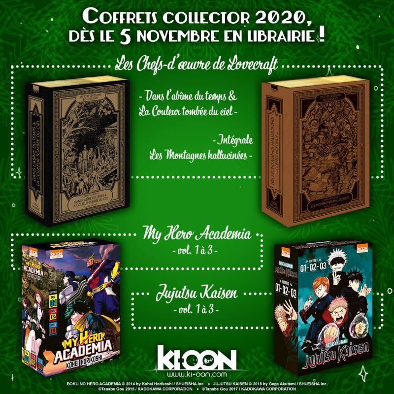 Des nouveaux coffrets collectors pour plusieurs mangas de chez Ki-oon !
