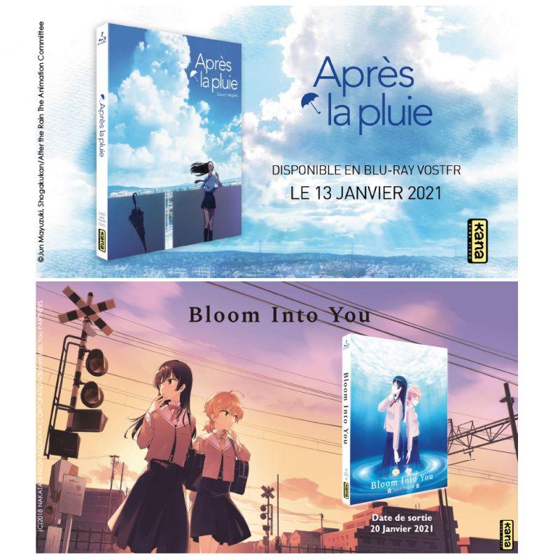 Les animés Bloom Into You et Après La Pluie en blu-ray chez Kana !