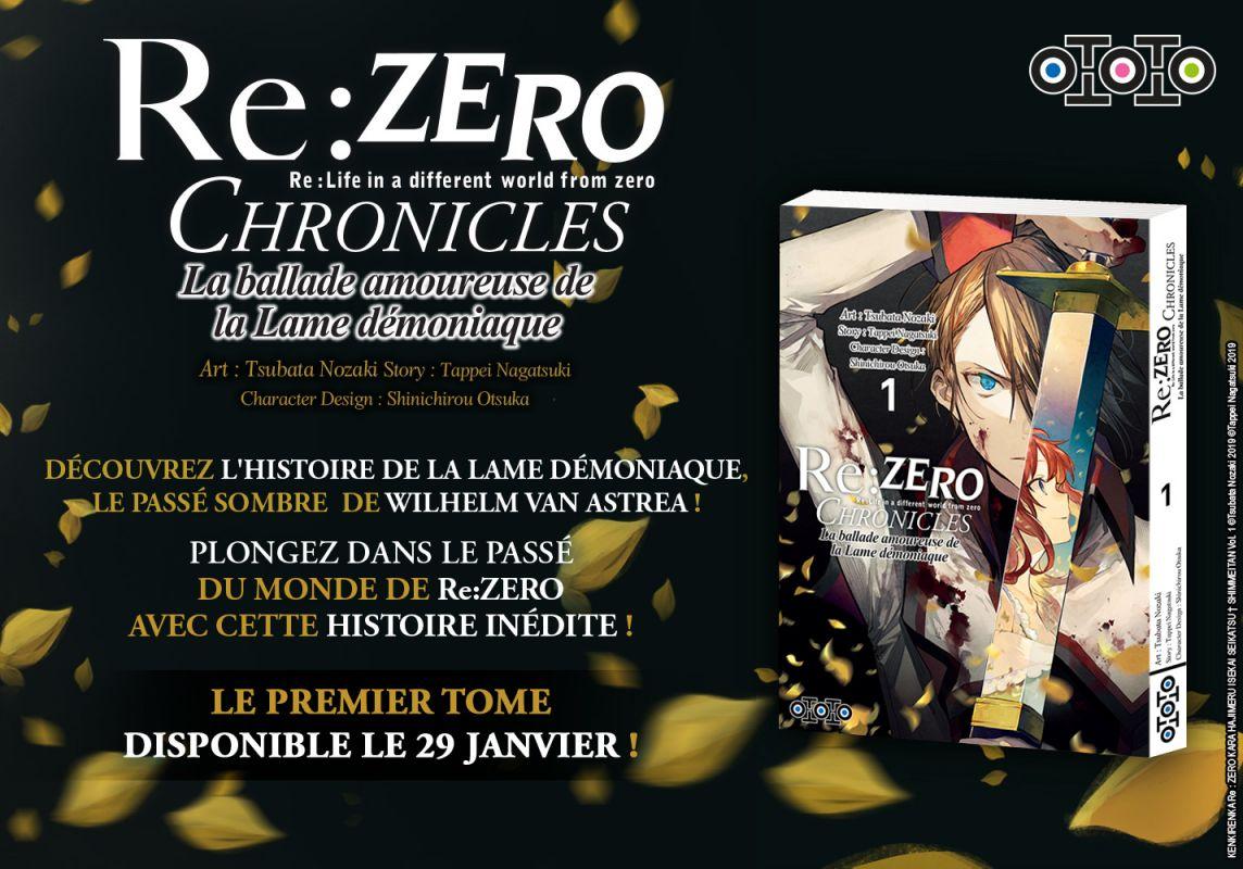 Re:Zero Chronicles : La Ballade Amoureuse de la Lame Démoniaque chez Ototo Manga
