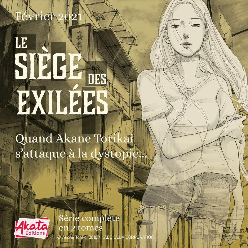 Le Siège des Exilées chez Akata
