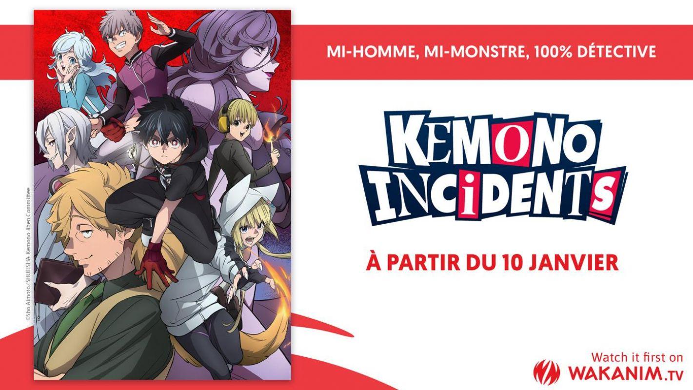 L'animé Kemono Incidents en simulcast sur Wakanim !