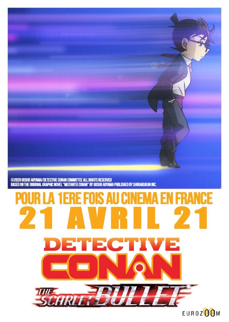 Le film Detective Conan : The Scarlett Bullet au cinéma en France !